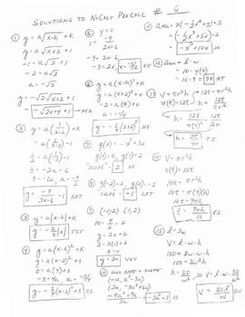 PreCalc Platitudinous Mathacrostics #6