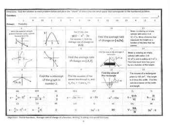 PreCalc NoCalc Mathacrostics #6