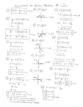 PreCalc Platitudinous Mathacrostics #7