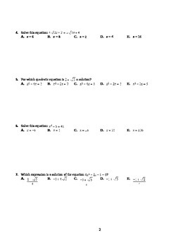 PreCalculus 11 Comprehensive Final Exam with SOLUTIONS