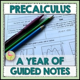 PreCalculus Curriculum Guided Notes and Video Lessons