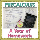 PreCalculus: A Year of Homework Bundle