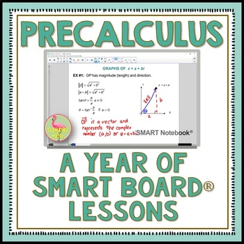PreCalculus: A Year of SMART Board Lessons Bundle