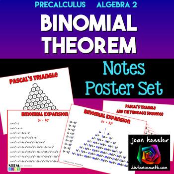 PreCalculus Algebra 2  Binomial Theorem Posters - Handouts
