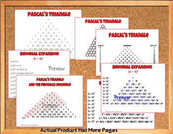 Binomial Theorem Bundle of Task Cards  Quiz  Posters