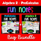 PreCalculus Algebra 2 Combo Bundle of Fun Notes Doodle Pages