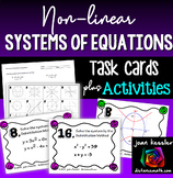 Non-Linear Systems of Equations Task Cards and Matching wi