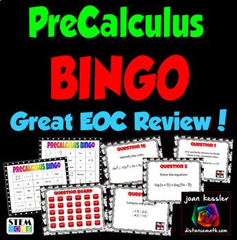 PreCalculus BINGO Interactive Review