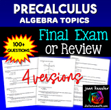 PreCalculus Final Review