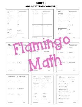 PreCalculus: Analytic Trigonometry Assessments Only