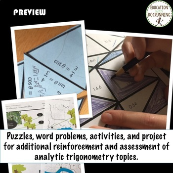 PreCalculus Analytic Trigonometry Curriculum Bundle Unit 5