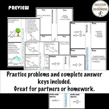 Analytic Trigonometry PreCalculus Curriculum Bundle Unit 5
