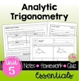 Analytic Trigonometry Essentials with Lesson Videos (Unit 5)