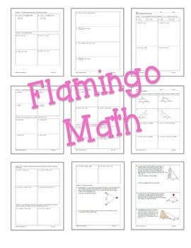 PreCalculus: Analytic Trigonometry Homework Bundle