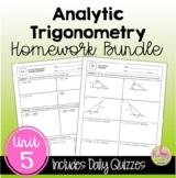Analytic Trigonometry Homework (Unit 5)