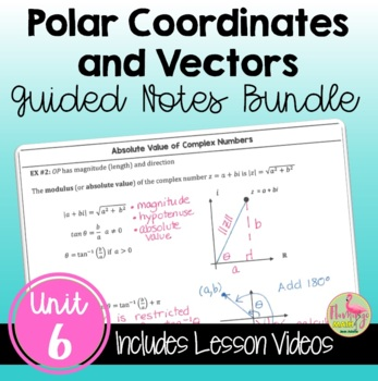 PreCalculus: Applications of Trigonometry Guided Notes Bundle