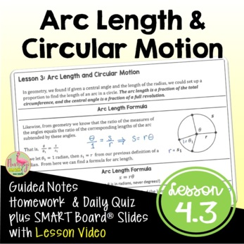 PreCalculus: Arc Length and Circular Motion