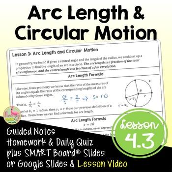 Arc Length and Circular Motion (PreCalculus - Unit 4)