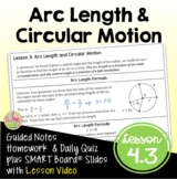 Arc Length and Circular Motion (PreCalculus - Unit 4)