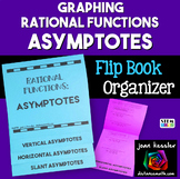 Rational Functions Graphing and Asymptotes Flip Book  Distance Learning