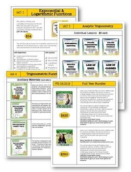 PreCalculus Curriculum Store Catalog