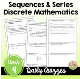 Discrete Mathematics Daily Quizzes (PreCalculus - Unit 9)