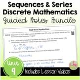 PreCalculus: Discrete Mathematics Guided Notes Bundle