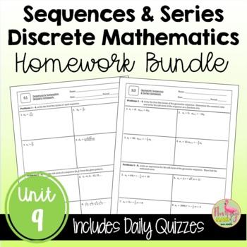 PreCalculus: Discrete Mathematics Homework Bundle
