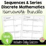 Discrete Mathematics Homework (PreCalculus - Unit 9)