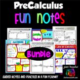PreCalculus No Prep Comic Book FUN Notes Bundle