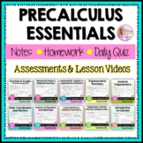 PreCalculus Essentials and Assessments