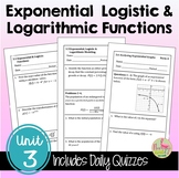 Exponential and Logarithmic Functions Daily Quizzes (PreCa