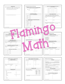 PreCalculus: Exponential, Logistic and Logarithmic Functions Guided Notes Bundle