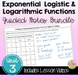 Exponential and Logarithmic Functions Guided Notes with Le