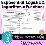 Exponential & Logarithmic Essentials with Lesson Videos (Unit 3)
