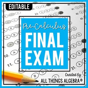 PreCalculus Final Exam
