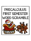 PreCalculus First Semester Word Scramble