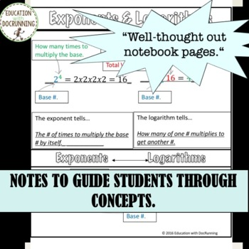 PreCalculus Full Year of Graphic Organizers and Notes for PreCalculus Curriculum