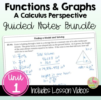 PreCalculus: Functions and Graphs Guided Notes Bundle