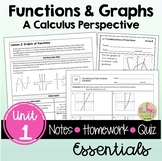 Functions and Graphs Essentials and Video Lessons (Unit 1)