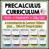PreCalculus Curriculum Guided Notes Option (No Activities) Bundle