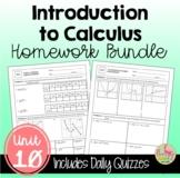 Intro to Calculus Homework (PreCalculus - Unit 10)