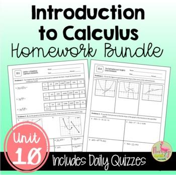 PreCalculus: Intro to Calculus Homework Bundle