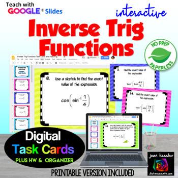 PreCalculus Inverse Trigonometric Functions with Google™ Slides plus HW