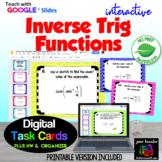 PreCalculus Inverse Trigonometric Functions with Google™ Slides plus HW