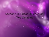 PreCalculus: Linear Equations in Two Variables
