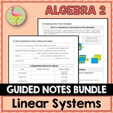 Linear Systems Guided Notes (Algebra 2 - Unit 3)