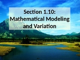 PreCalculus: Mathematical Modeling and Variation