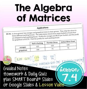 PreCalculus: Matrix Algebra