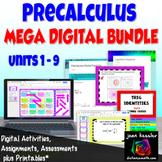 PreCalculus Digital Mega Bundle of Activities Assessments